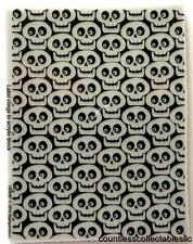 Creepy Skull Stack 4 x 3 Background Halloween Stampendous Cling Rubber Stamp