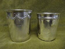 antique french silver (950 & 800) minerve 2  baby cups LOUIS XVI style 32gr 41gr