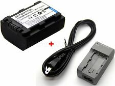 Battery & Charger for Sony HDR-XR105 HDR-XR106 HDR-XR200 HDR-XR500 HDR-XR520