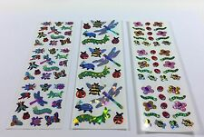 Sandylion INSECT LADY BUG BEE Rare Shiny Glitter Glittery Prismatic Stickers Lot