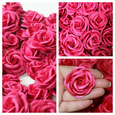 50 Hot Pink Fuchsia Mulberry Paper ROSES,lampshade,chandelier,craft,scarpbooking