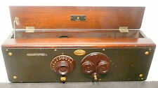 vintage * ATWATER KENT 30 w/  NO TUBES - untested/ HARDWOOD CABINET & GOOD KNOBS