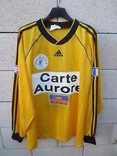 VINTAGE Maillot COUPE de FRANCE porté n°12 jaune CARTE AURORE manches longues XL