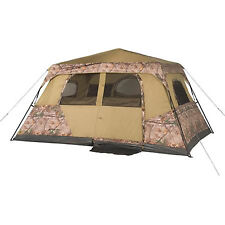 Camo Camping Tent Hunting Instant Large 13' x 9' Real Tree Family Cabin 8 Person
