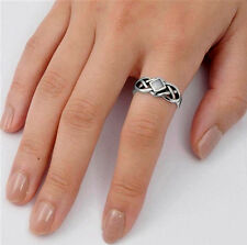 USA Seller Celtic Knot Ring Sterling Silver 925 Best Deal Stone Jewelry Size 9