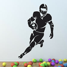 American football rugby Player Wall Sticker Vinyl Decal Art Mural Graphic Decor