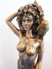 Oshun Statue Bronze Finish Yoruba Orisha African Goddess Beauty Love #WU75957A4