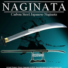 "Functional 69.5"" Japanese Samurai Naginata Long Sword Sharp Edge"