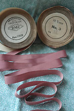 "10 yard 5/8"" wide vintage roll grosgrain dark rose ribbon hat millinery (17)"