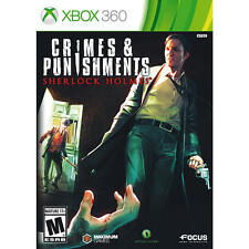 Sherlock Holmes: Crimes & and Punishments USED SEALED (Microsoft Xbox 360)