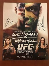 Ufc 175 Signed 11x14 Photo x3 Chris Weidman, Lyoto Machida, Alexis Davis
