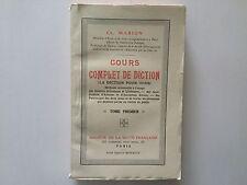 COURS COMPLET DE DICTION VOL 1 1927 MARION POUR TOUS