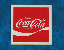 COCA-COLA  ..  Vintage 1970,s  COKE  advertising sticker