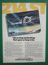 10/1986 PUB BELL HELICOPTER TEXTRON HELICOPTERE BELL 214 ST SAR COAST GUARD AD