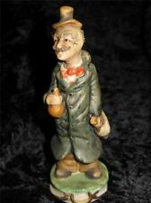 Porcelain Figurine Man With Chicken and Meat, Spiky Hair & Moustache
