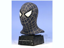 "Marvel Comics Master Replicas BLACK SPIDERMAN 3 6"" Mini bust statue figure RARE"