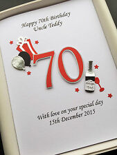 70th BIRTHDAY CARD FOR MEN DAD HUSBAND GRANDAD personalised handmade gift boxed