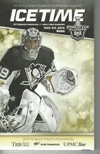 Icetime Pittsburgh Pens Official Game Program Stanley Cup Playoffs R2G2 5/4/14