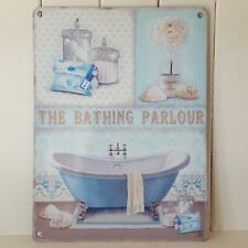 THE BATHING PARLOUR SIGN CHIC N SHABBY VINTAGE VICTORIAN BATHROOM  PLAQUE