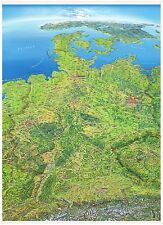 Panoramakarte Deutschland mit Leisten Hochformat 99x136cm #150051B