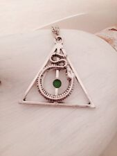 Harry Potter Deathly hallows Slytherin Snake Necklace