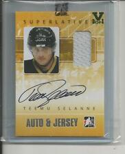 Teemu Selanne Superlative Vault 1/1 on Vol 2 Auto plus Jersey, Emerald Logo