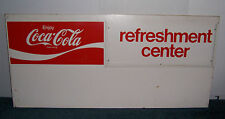 COCA-COLA REFRESHMENT CENTER MENU BOARD METAL ADVERTISING SIGN 45 1/2  X 21 3/16