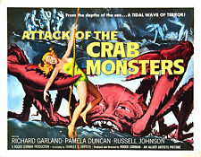 Framed Retro Movie Poster – Attack of Crab Monsters 1957 (Replica Print Film)