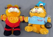 Set of 2 Vintage Collectible Garfield Plush's: Aerobic Workout & Gutter Ball