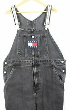MENS VINTAGE 90s TOMMY HILFIGER DENIM OVERSIZE DUNGAREES OVERALLS W30 toW42 RARE