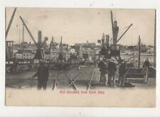 Port Elizabeth From North Jetty South Africa Vintage Postcard 970a