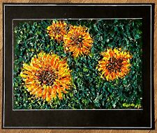 """SUNFLOWERS"" -  Modern homage to Vincent Van Gogh by British artist"