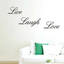Live Laugh Love Vinyl Decal Art DIY Wall Sticker Home Wall Words Letters Decor