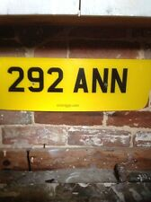 292 ANN Personal UK Car Number Plate Dateless Rare Investment New Lower Price