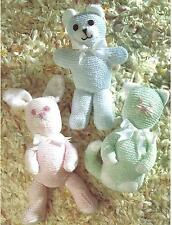 Soft Toy Knitting Pattern Teddy, Rabbit,  Cat. Double Knitting.  146