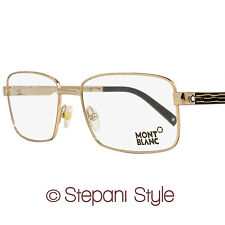 Montblanc Rectangular Eyeglasses MB482 028 Size: 56mm Rose Gold/Black 482