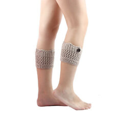 Fashion Women Ladies Winter Leg Warmers Knitted Socks Boot Cover Toppers Cuffs