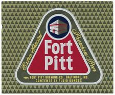 Fort Pitt Extra Special Premium Beer Label
