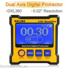 DXL360 Digital Protractor USB Charge Dual  LCD Inclinomet​er Angle Sensor Meter