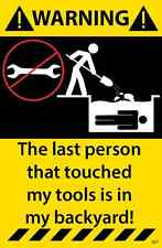 Tool Box Mechanic Warning Sticker Wrench Funny Decal 57