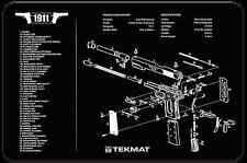 "1911 COLT GOVERNMENT .45 ARMOURER GUN CLEANING NEOPRENE BENCH MAT 11x17"" TEKMAT"