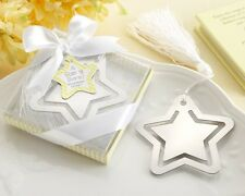 48 A Star is Born Metal Bookmark with White-Silk Tassel  baby shower favors