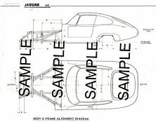 JAGUAR XKE FRAME DIAGRAM WITH DIMENSIONS CHART MOF BK