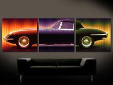 JAGUAR E WALL Leinwand Bilder Bild Popart Kunstdruck No Poster XKE E Type Style