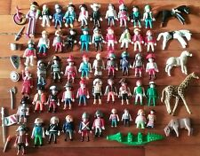 PLAYMOBIL Lot of 50 Minifig Figures w/Knights Pirates Clowns Animals Kids Pieces