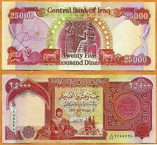 Iraq 2010 GEM UNC 25000 Dinars Banknote Paper Money Bill P-96d