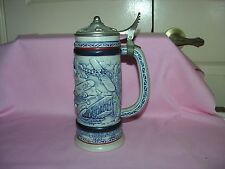 1981 Flying Classic Airplanes Avon Lidded Beer Stein Ceramarte Made In Brazil