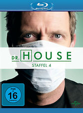 4 Blu-rays * DR. HOUSE - STAFFEL / SEASON 4 | HUGH LAURIE # NEU OVP +