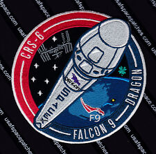 CRS-6 AUTHENTIC SPACEX FALCON 9 DRAGON ISS Commercial NASA SUPPLY Mission  PATCH