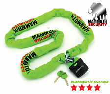 MAMMOTH SOLID HEAVY DUTY MOTORBIKE MOTORCYCLE MOTOCROSS CHAIN AND PADLOCK 1.8m